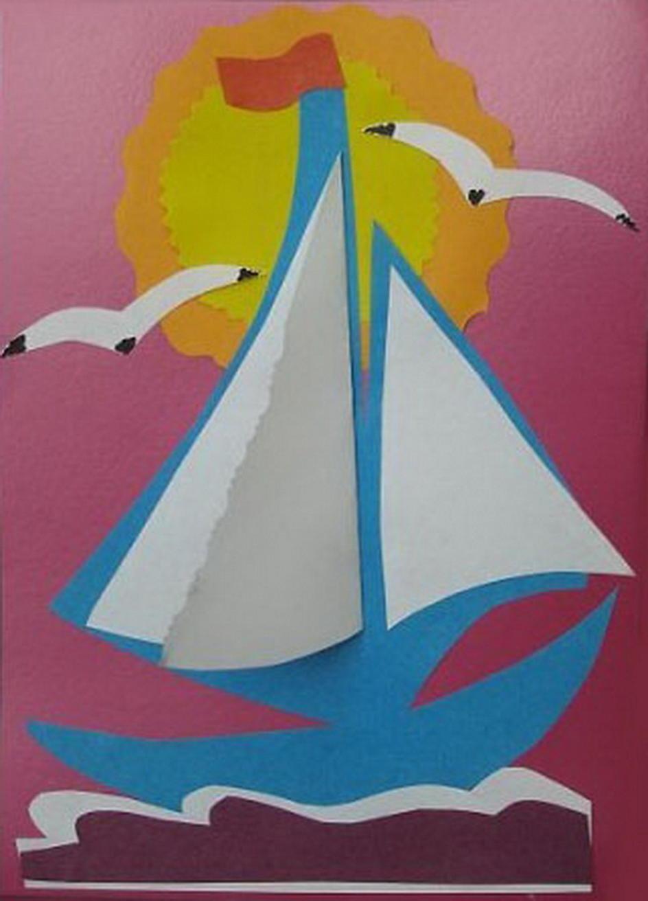 Открытки девочками, открытка кораблик для детей