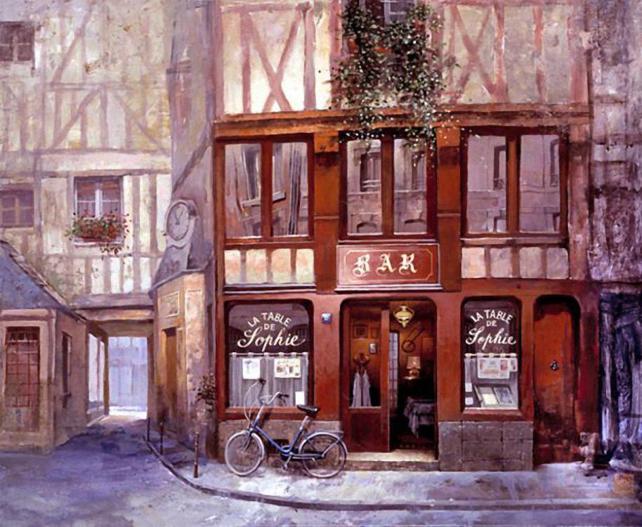 винтажные картинки кафе париж