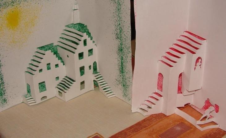 Раскрывающиеся открытки с домами