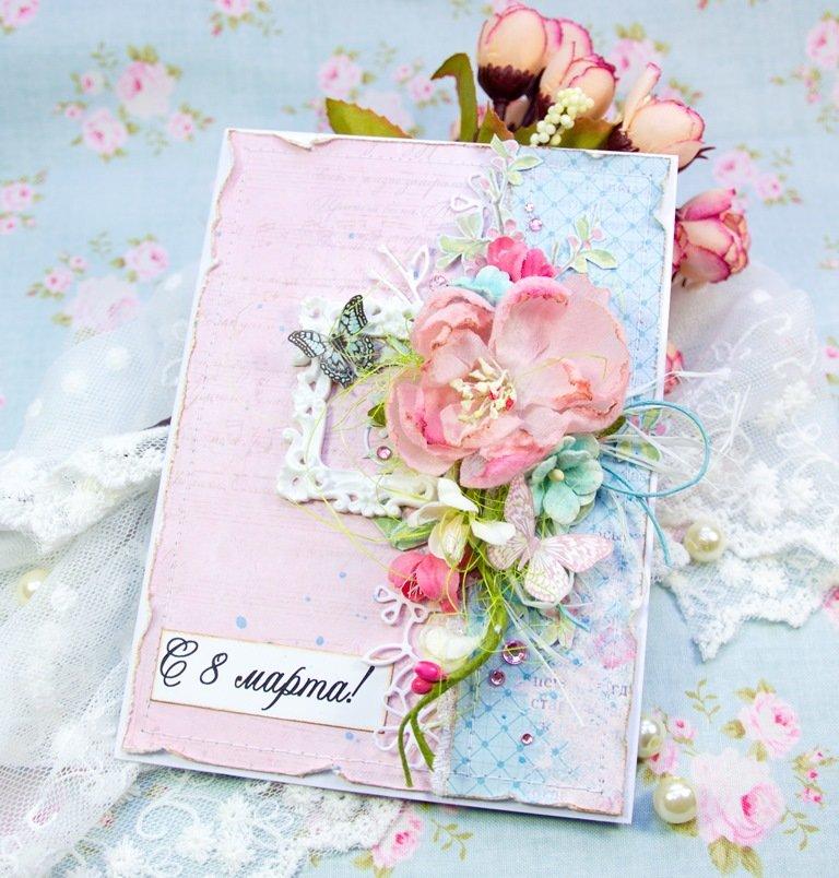 Надпись, открытка с цветами скрапбукинг мастер