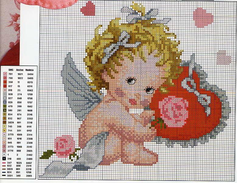 Вышивка крестом картинки ангелов
