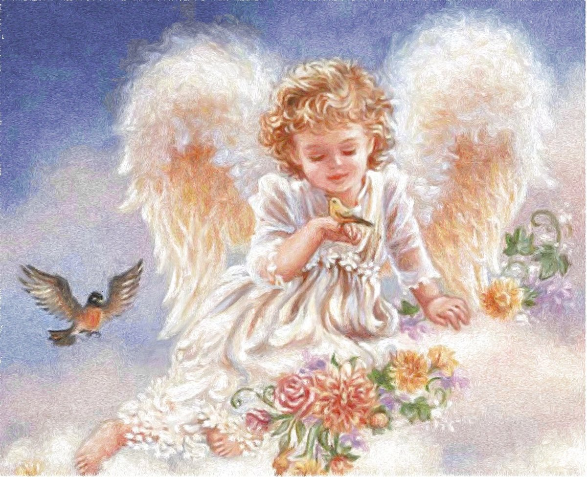 Картинки с ангелами и с надписями, днем рождения сестре