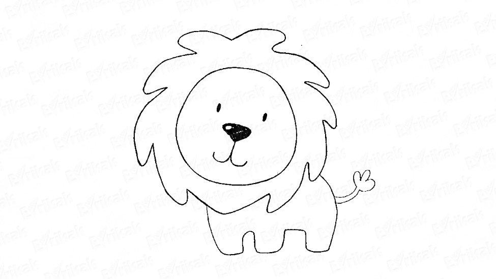 помощью картинка льва рисунок легкие конструктивные
