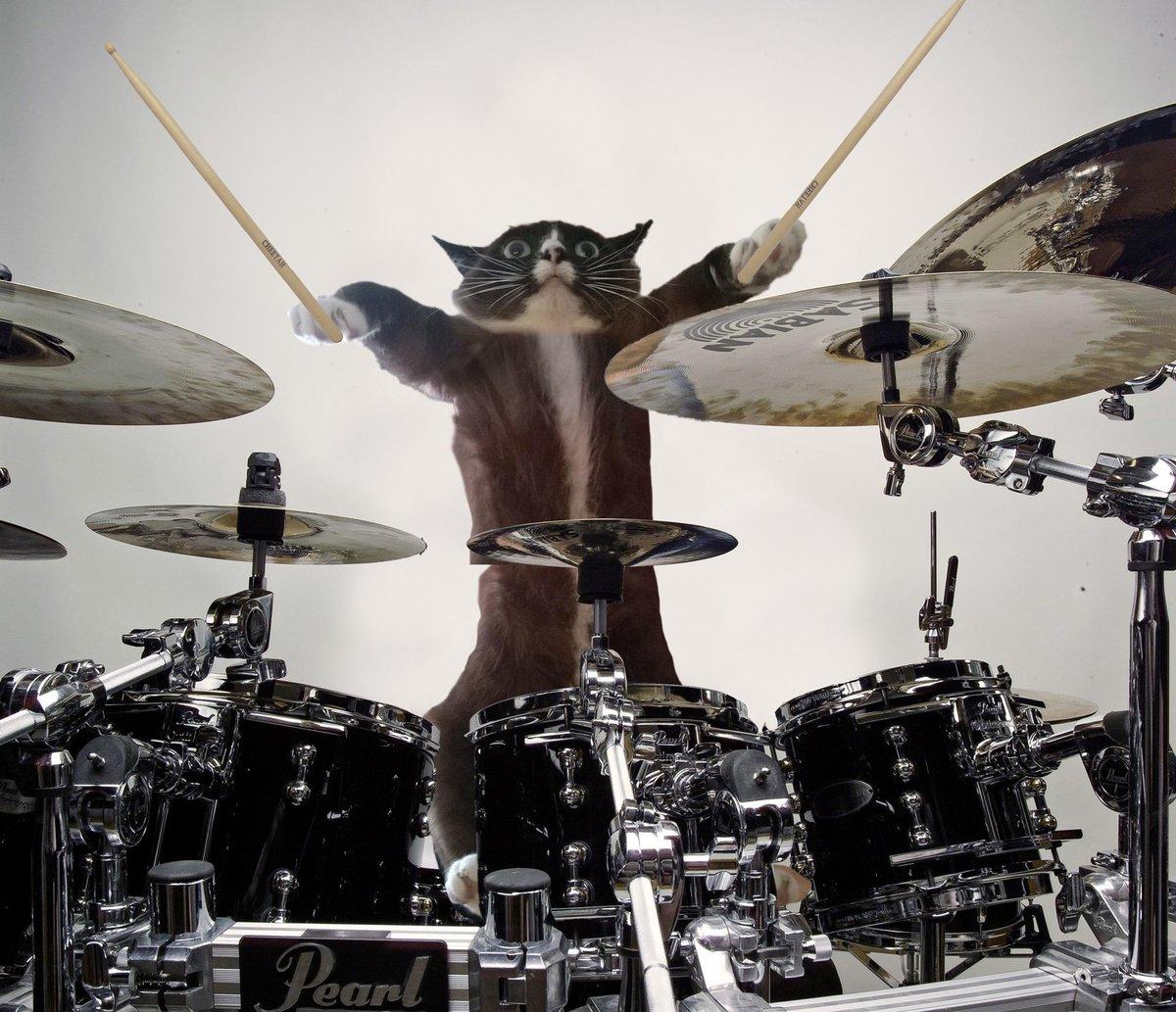 Открытка музыканту барабанщику, для