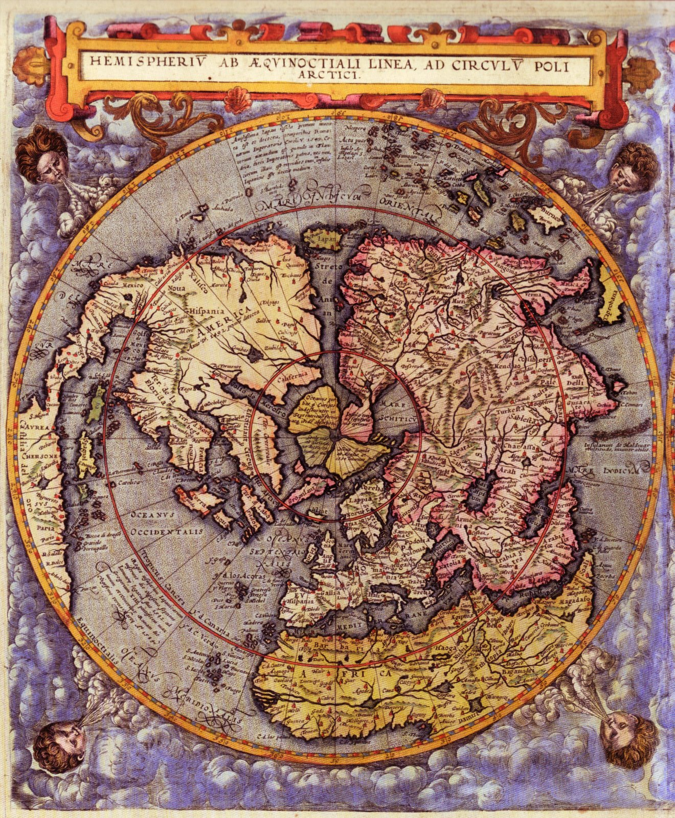 «Карта Мира Северного и Южного полушария опубликована в 1593 году  голландским картографом и гравером Жераром де Джоде.» — карточка  пользователя laludo в ...