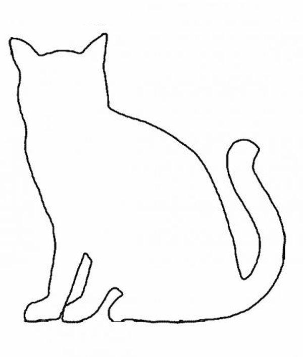 Шаблоны котиков для вырезания из бумаги распечатать