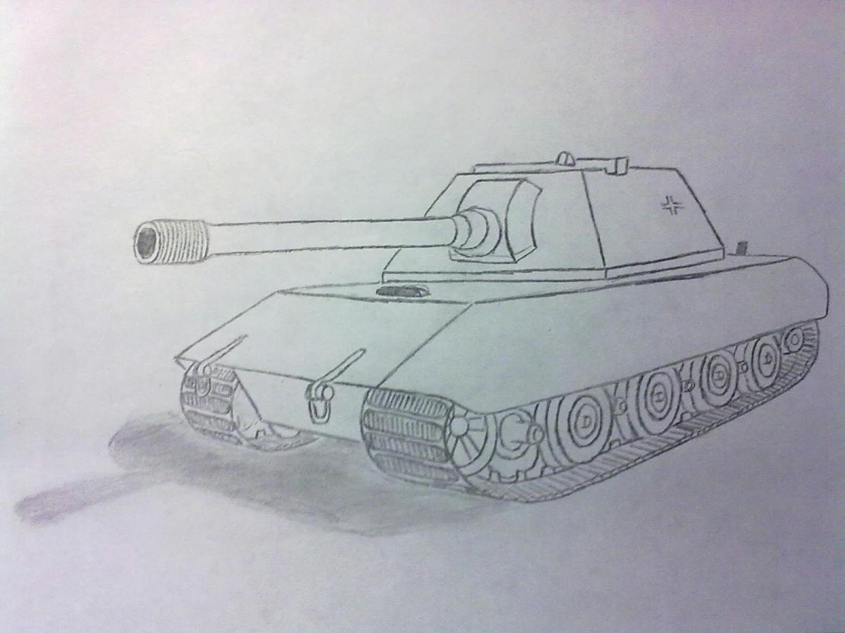 Картинки танков рисовать