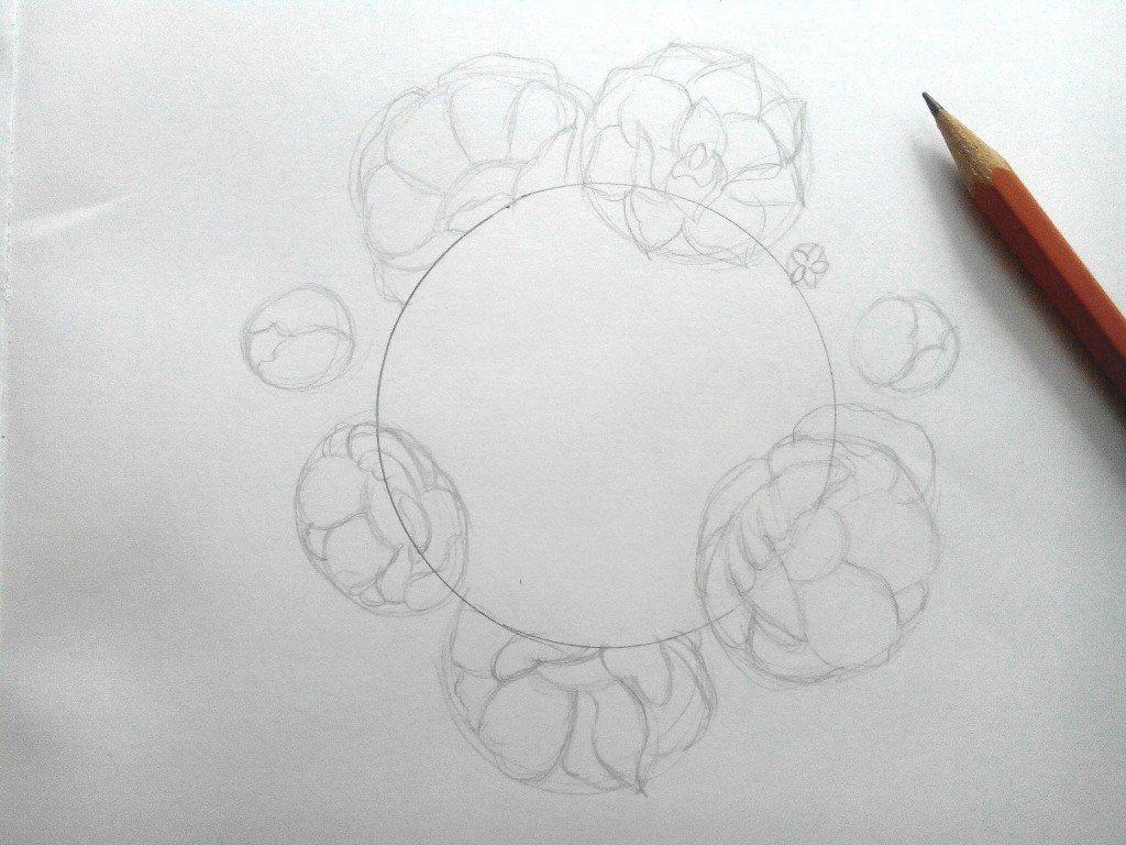 Скрапбукинг, рисунки карандашом на открытку