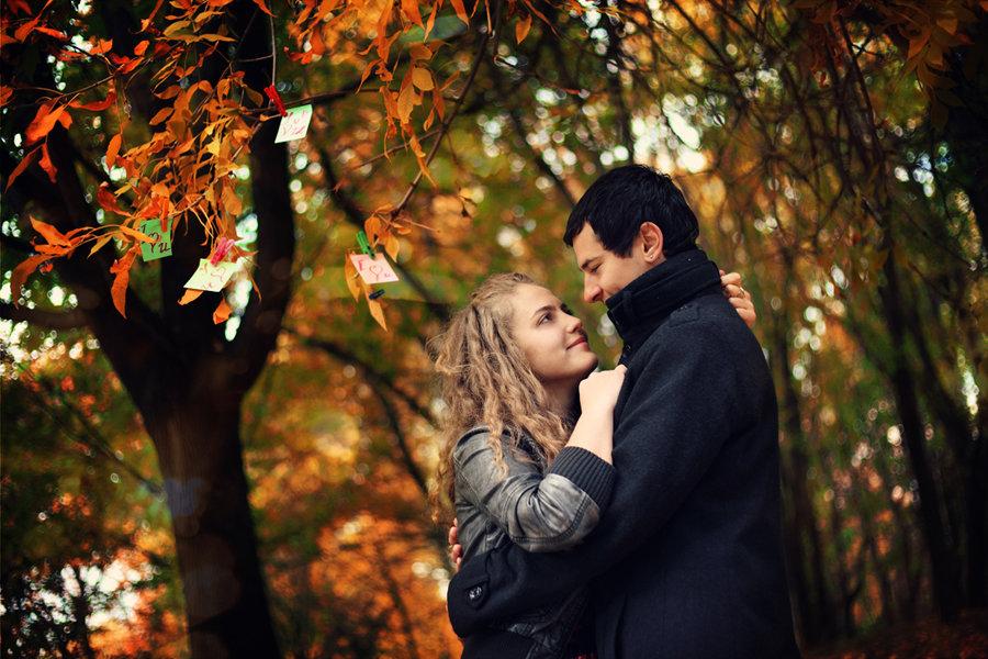 Осень картинки парень девушка