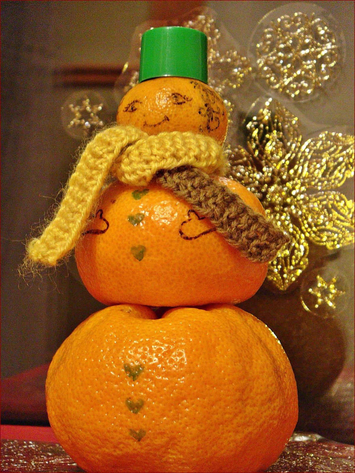 Прикольная картинка мандарина