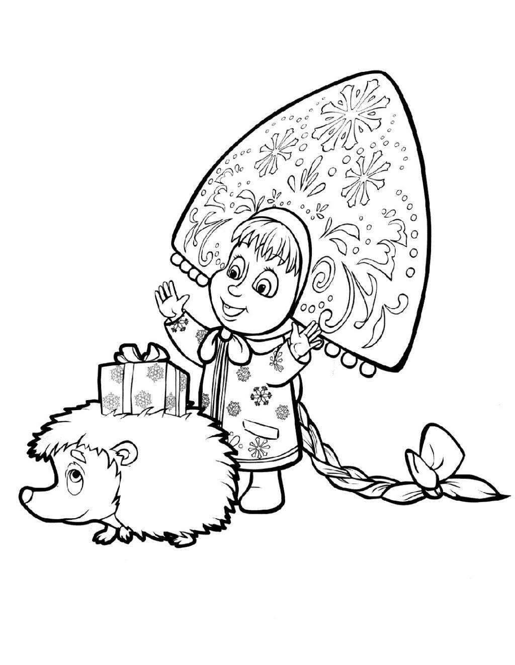 «раскраска маша и медведь для детей 3-4 лет» — карточка ...