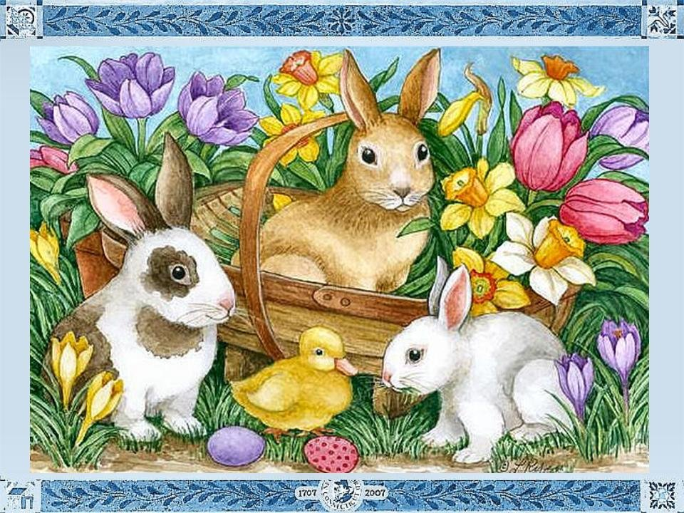 Кролики пасхальные картинки рисованные