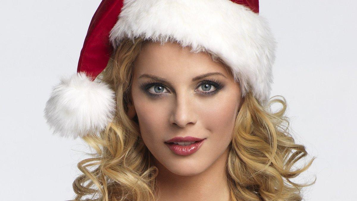 Новогодние картинки с девушкой с красивым макияжем, поздравлением
