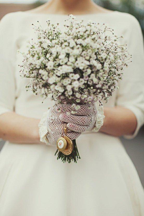 Свадебный букет из гипсофила, свадьбу невесты киев