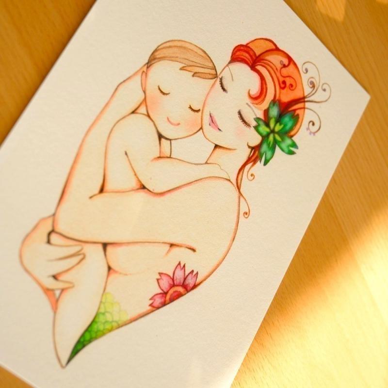 Как нарисовать открытку на день матери фото