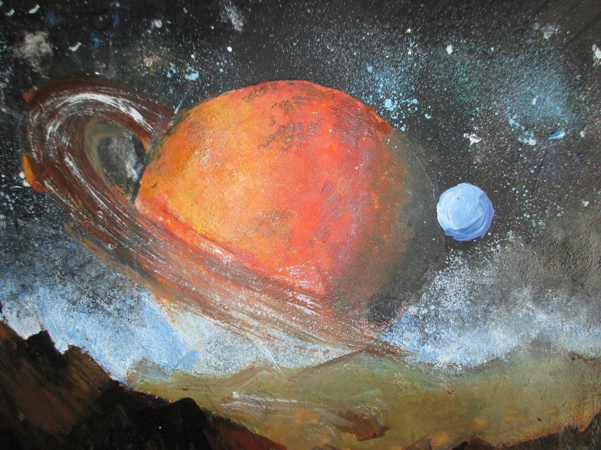 Картинки красками космос