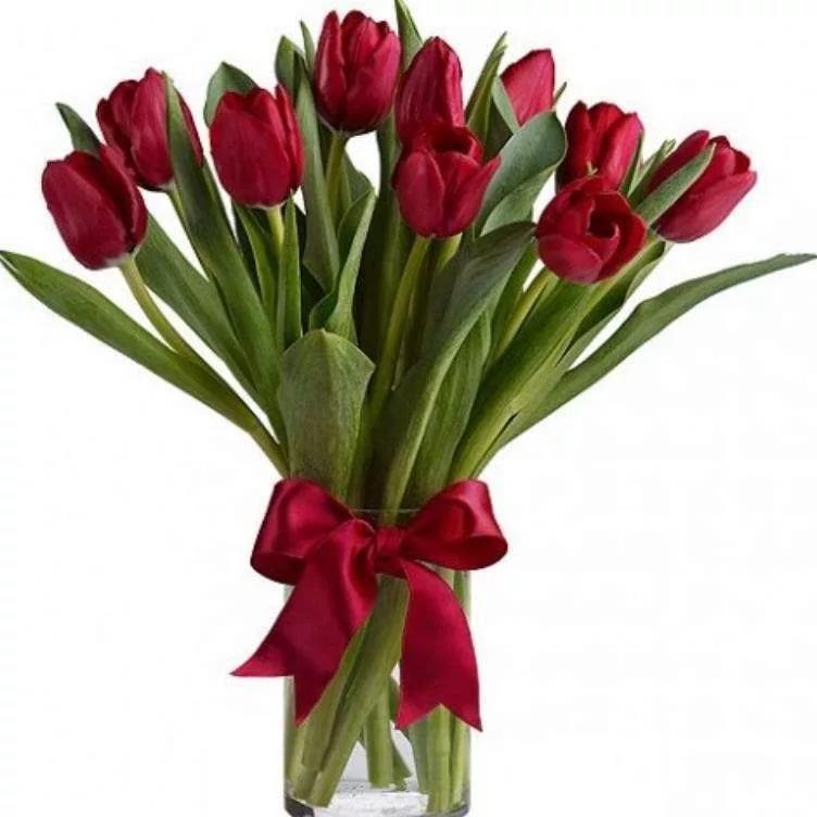 Девочке года, открытка букеты тюльпанов