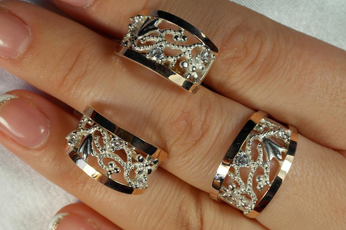 зависимости комплект серьги и кольцо из золота фото стильно