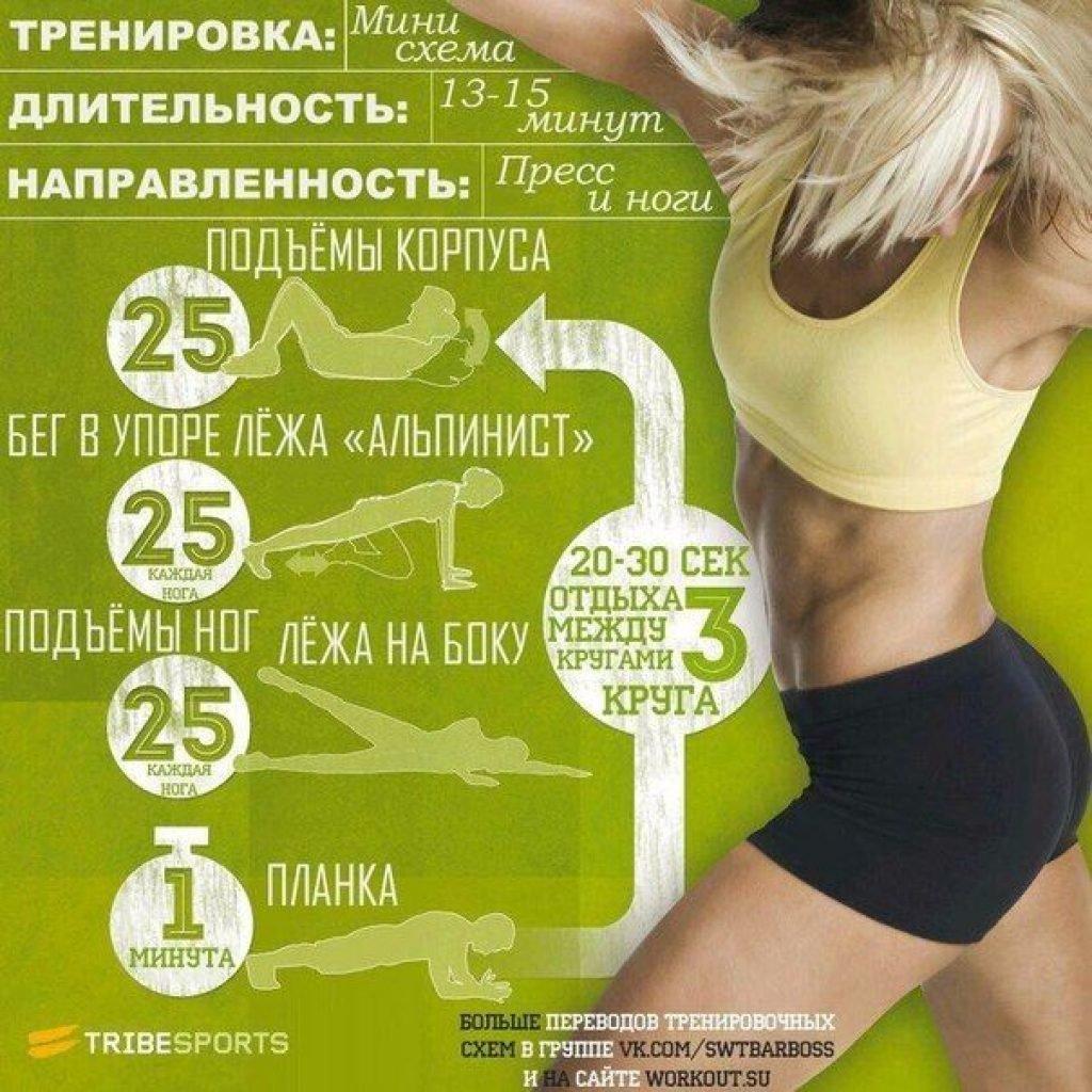 расписание тренировок для похудения