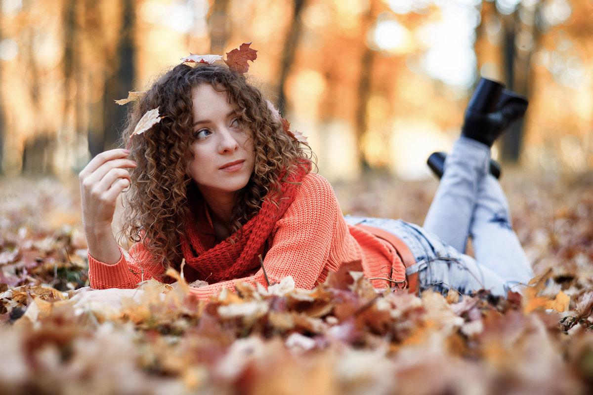 Картинки прикольная девушка осень, новый