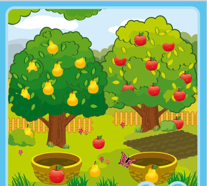 Картинка фруктового сада детская