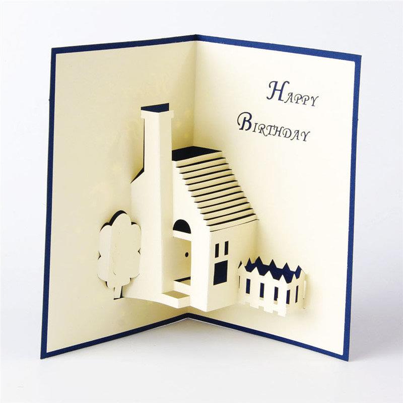 Открытка 3д домик, картинки открытки