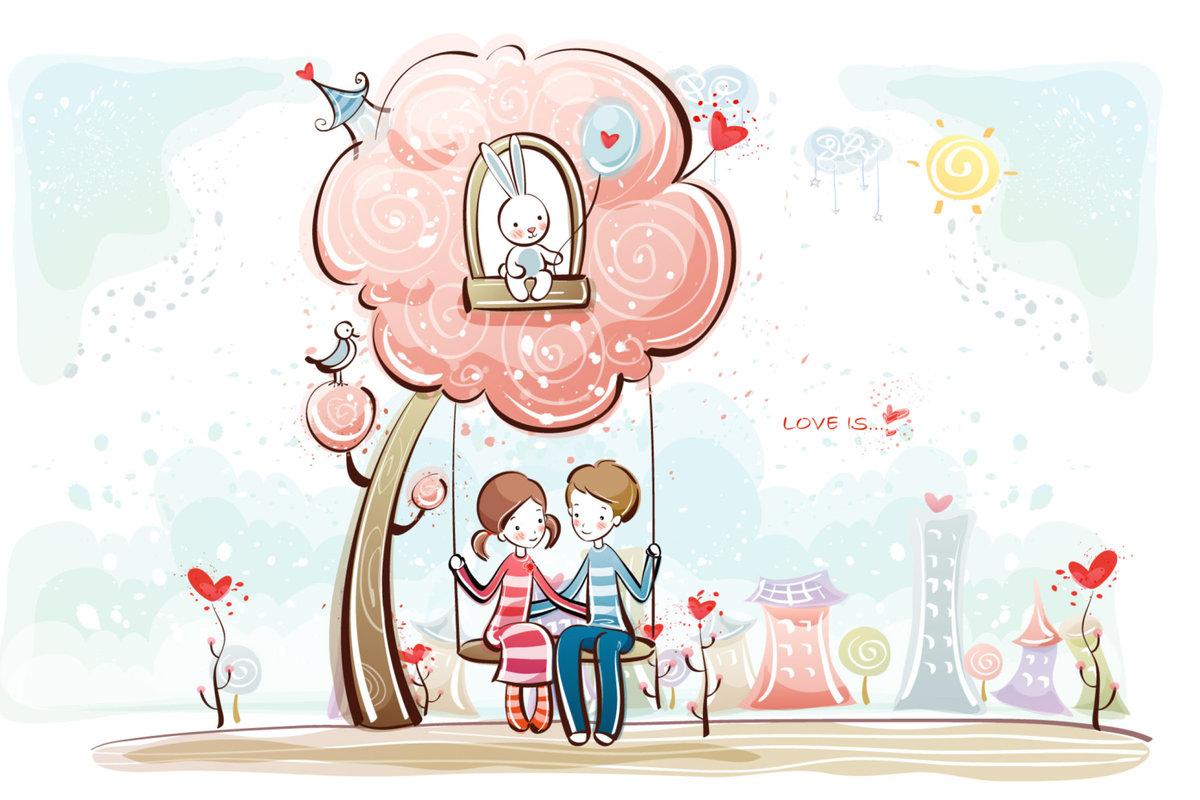 Мультяшные картинки о любви, мая современные