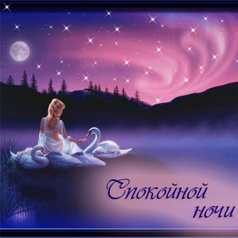 Романтичные картинки спокойной ночи мужчине