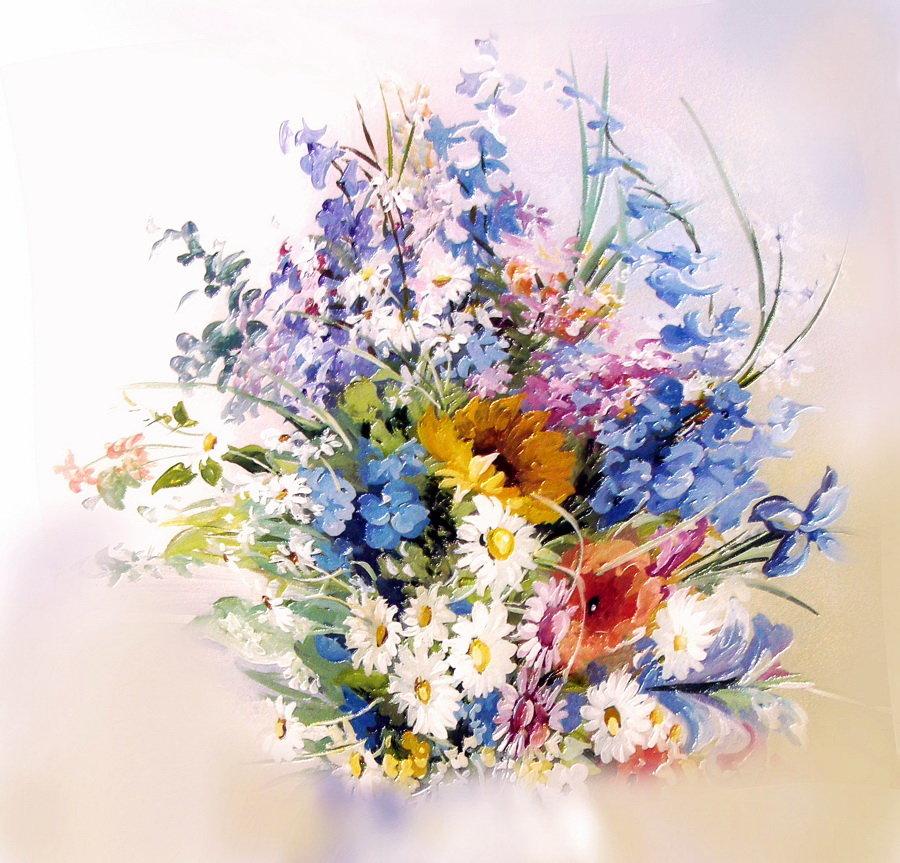 букет цветов картинки акварель фешенебельному
