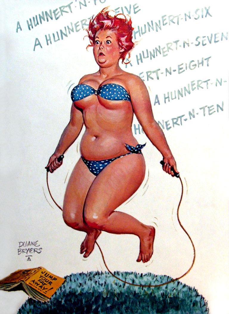 Картинки с полными женщинами и юморными