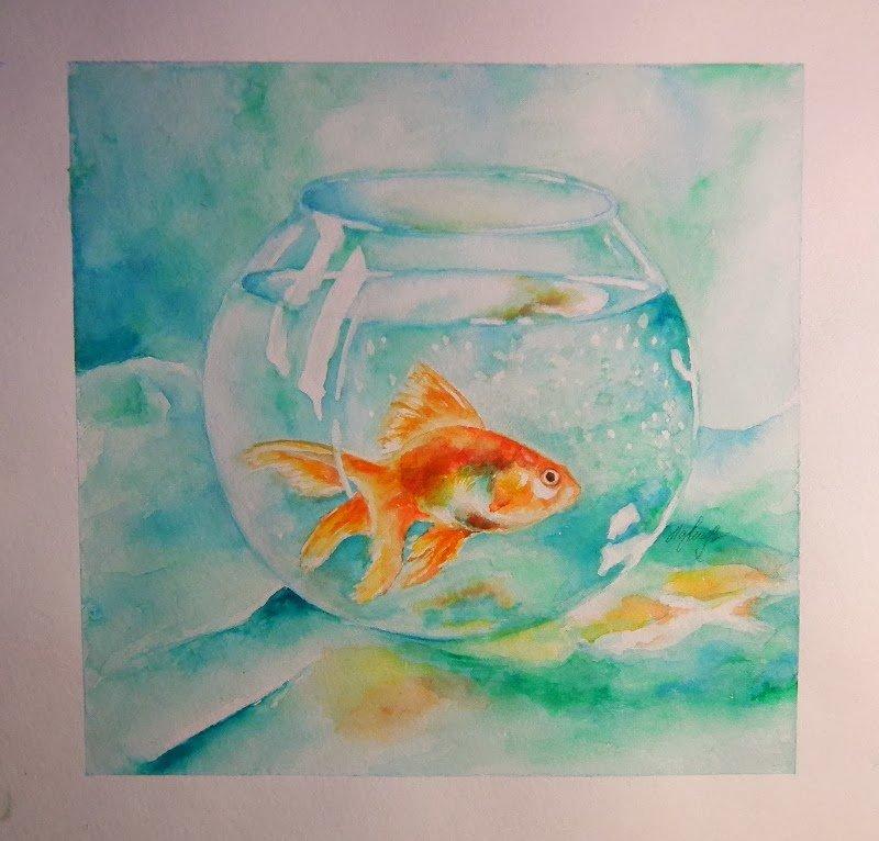 что рисунок рыб в аквариуме красками птиц ищет себе