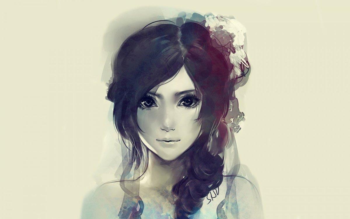 Девушками, классные картинки с девушками нарисованные