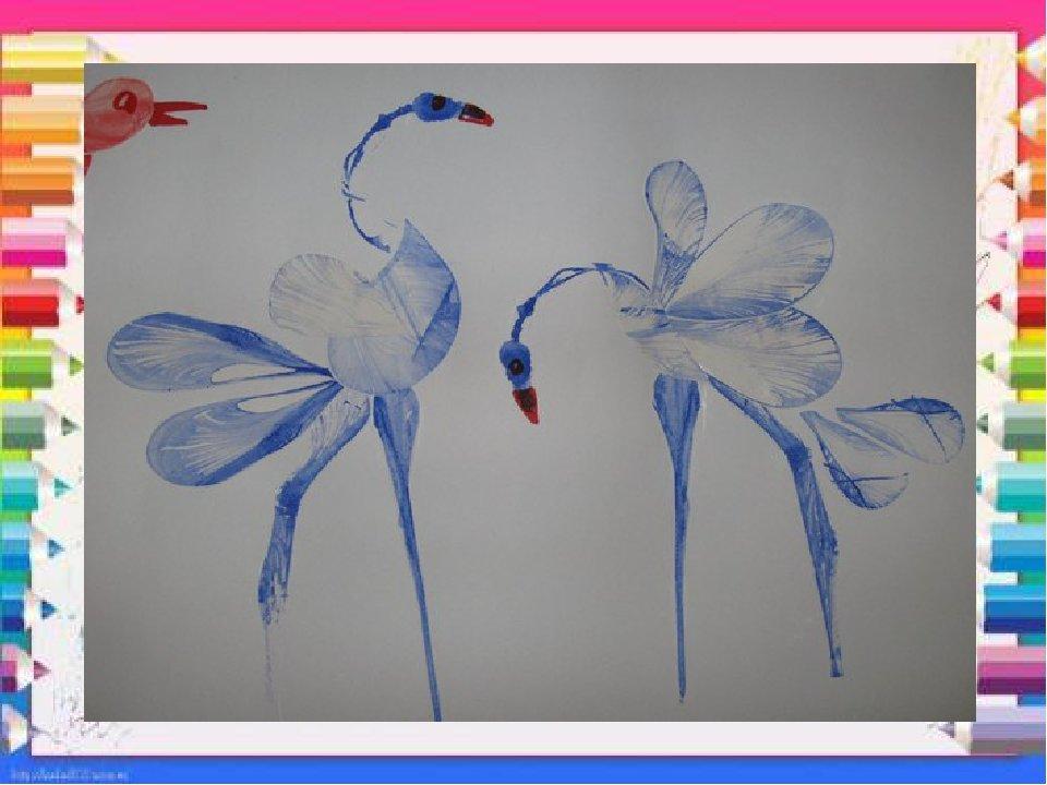 рисунок нитками на бумаге и краски техниками стихии