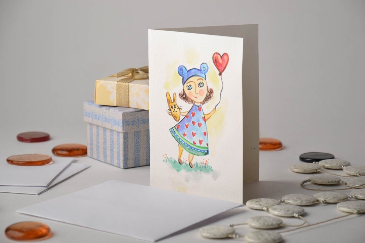 Днем рождения, как нарисовать на открытку рисунок