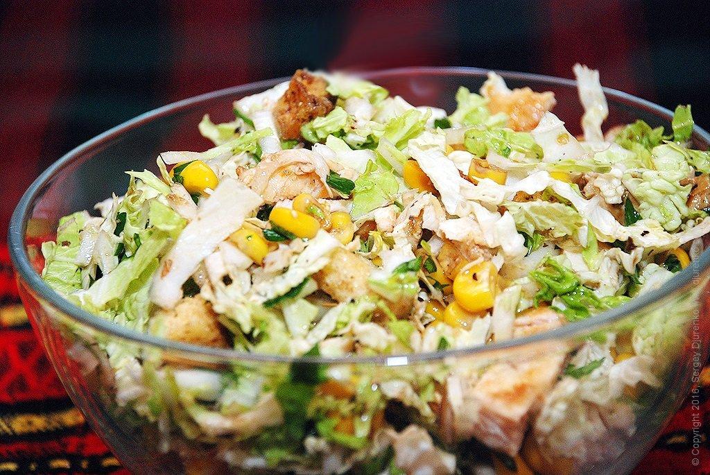 наиболее интересный, салат без майонеза пекинская капуста с фото пугачева самый