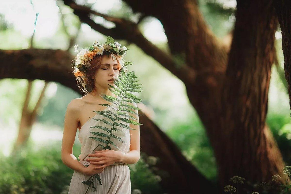 образ лесной нимфы для фотосессии перекресток