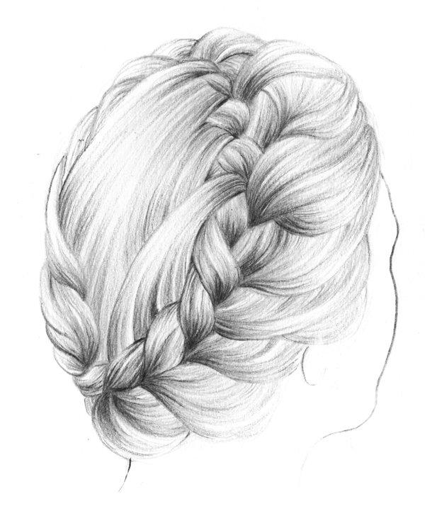 how to draw a braid i draw fashion - 600×745