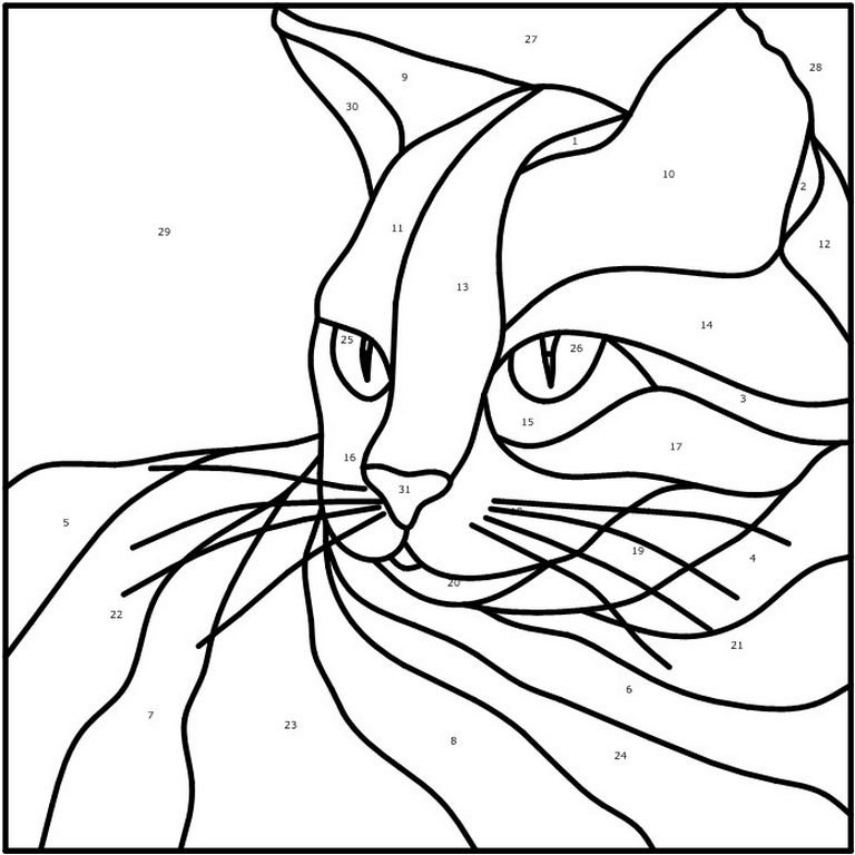 Кошки картинки для витража