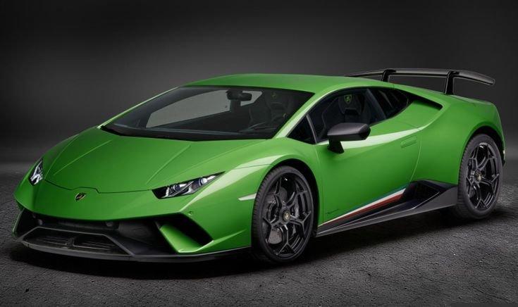 Зеленая Lamborghini Huracan Superleggera-концепт 2019