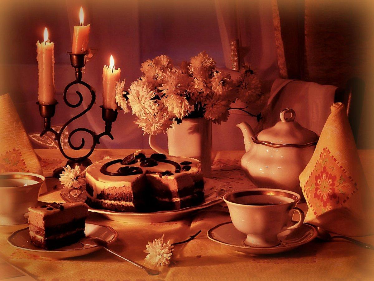 Днем рождения, открытки вечер при свечах
