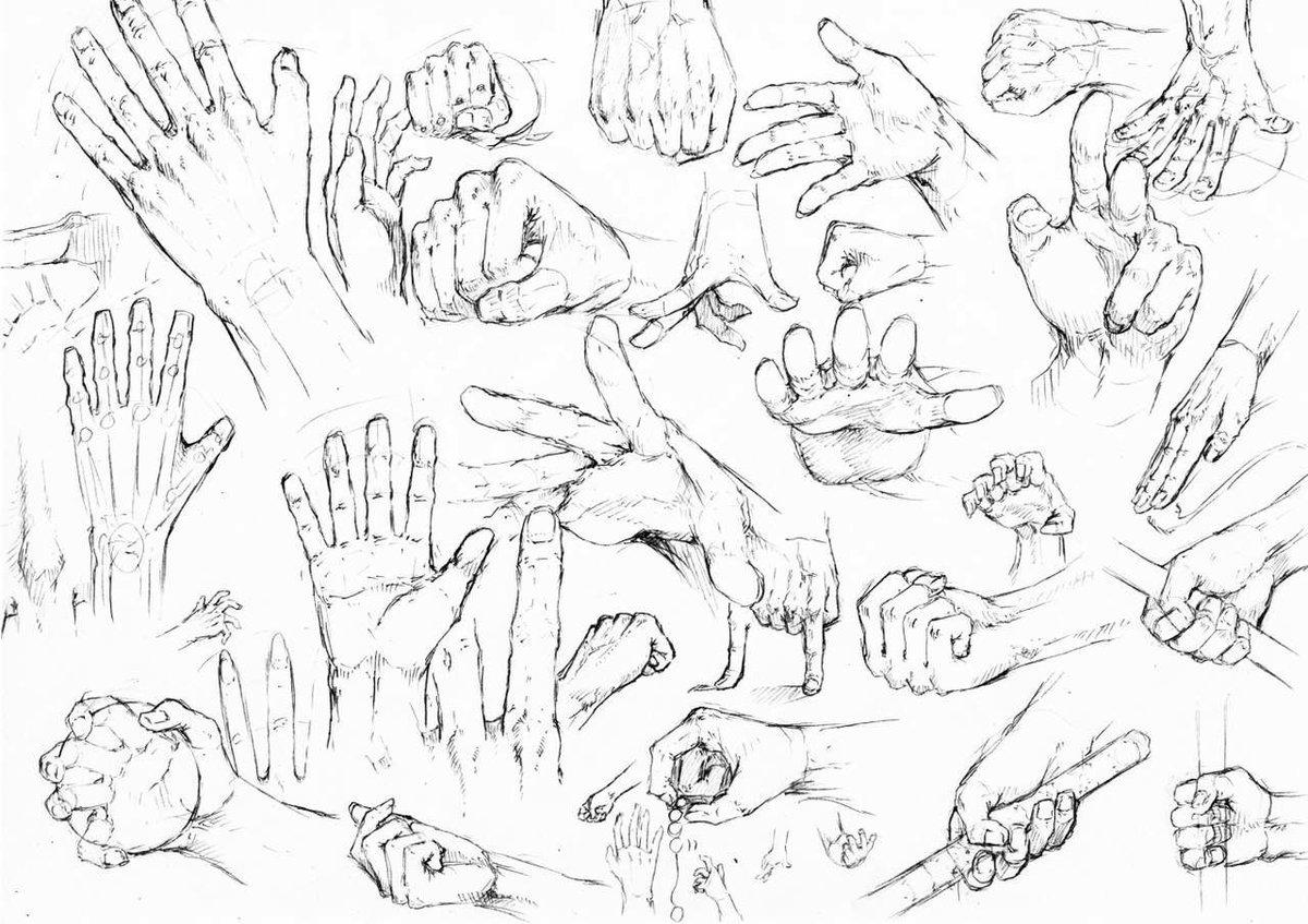 Картинки как рисовать кисти рук