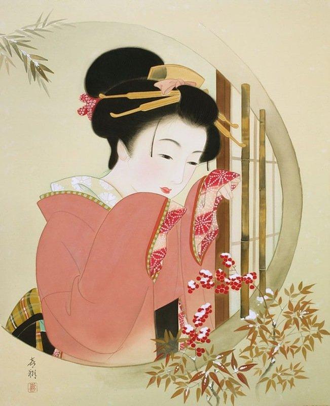 Японские открытки с детьми, днем