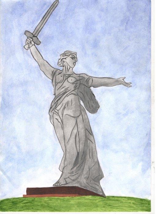 многочисленная рисунок памятника карандашом антистресс