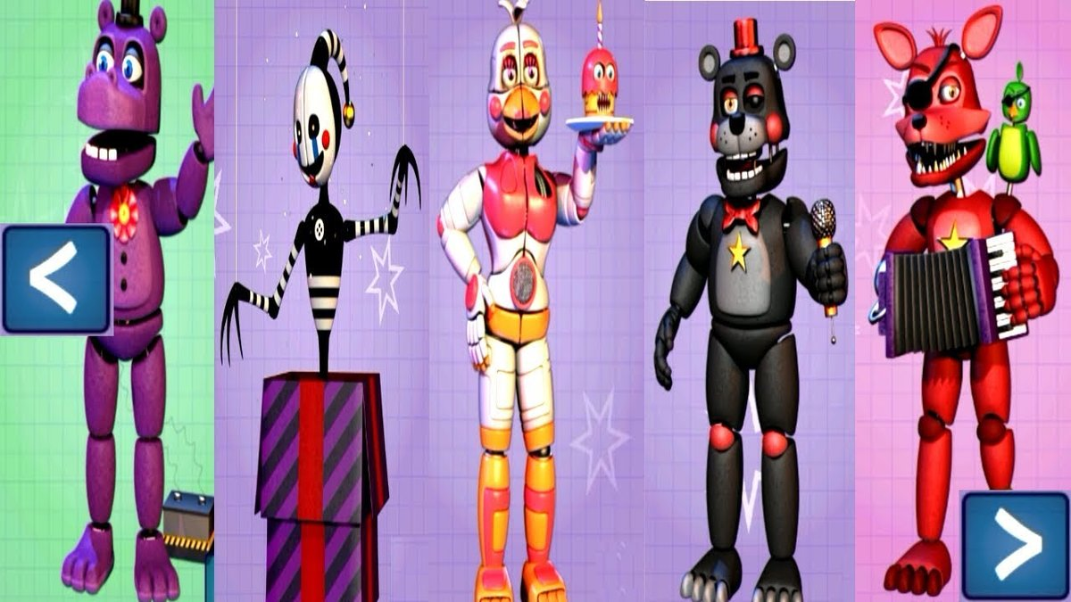 five nights at freddy s 6 extras all animatronics unlocked card