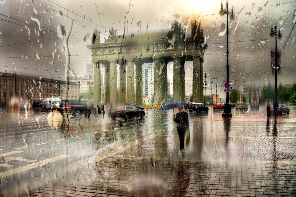 Прикольные, картинки летний дождь в городе