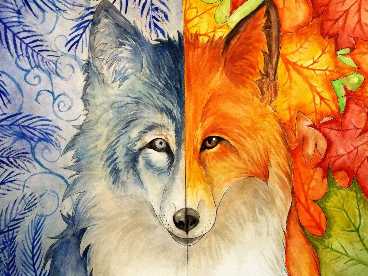 осенний волк рисунок боденского