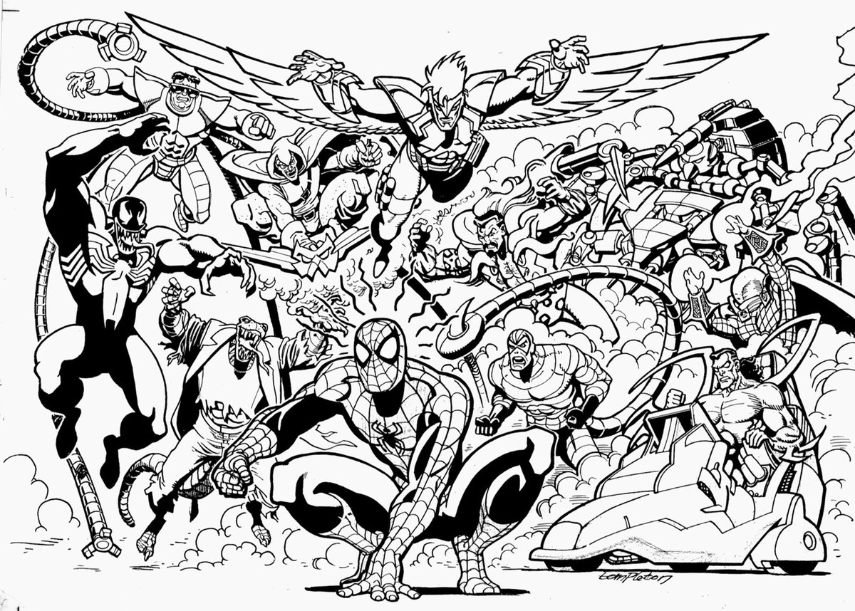 marvel supervillains coloring pages - photo#46