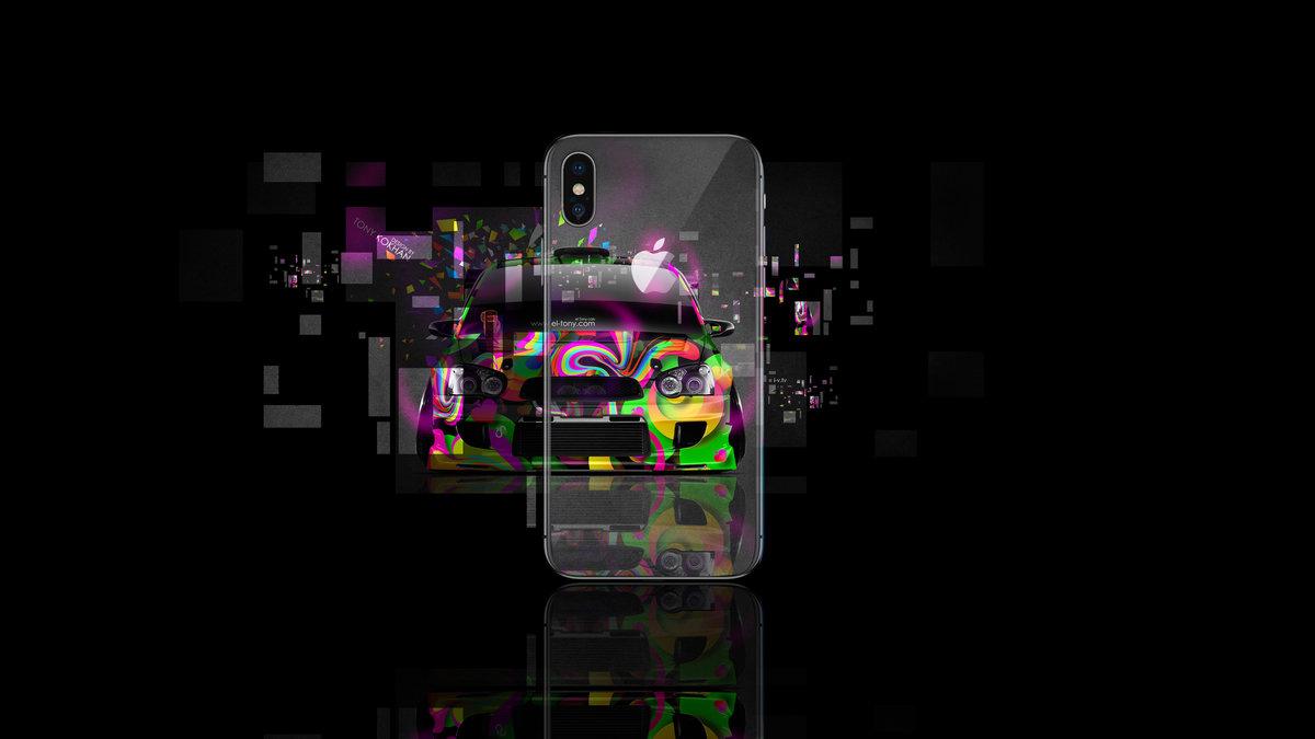 Apple IPhone X AppleTony Back Logo Subaru Impreza