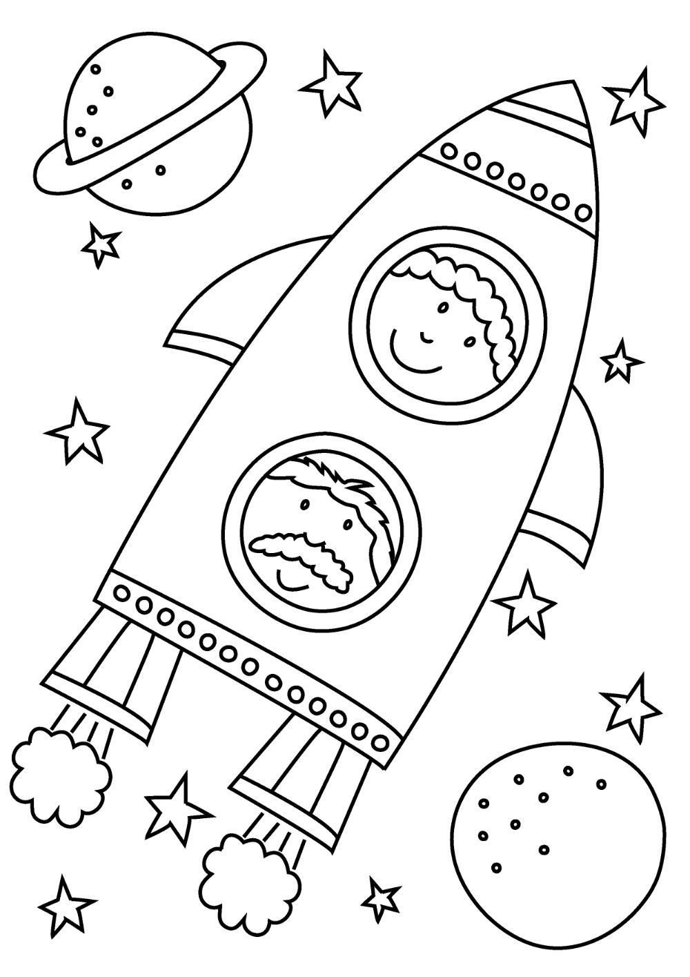 space rocket coloring pages - HD 1000×1415