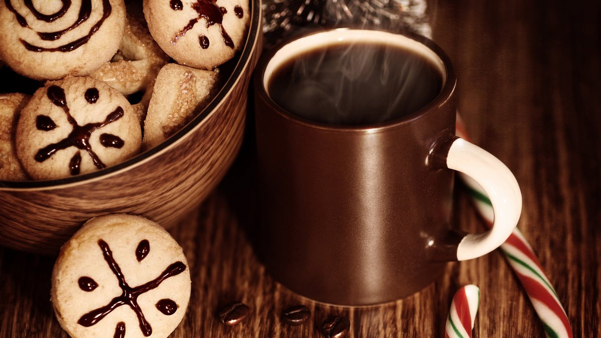 Художественных открыток, открытка с кофе и печеньем